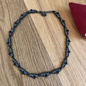 Monika Chiang Black necklace with crystals detail